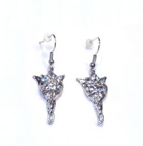 Lord of the Rings Evenstar Arwen Earrings Platinum plate - Prop Replica